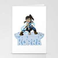the legend of korra Stationery Cards featuring Korra by HelloTwinsies