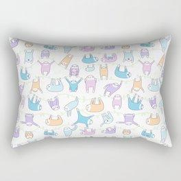 Lazy Sloths Doodle - Pastel and Kawaii Rectangular Pillow