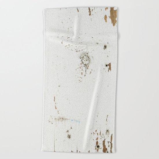 Vintage White Wood Beach Towel