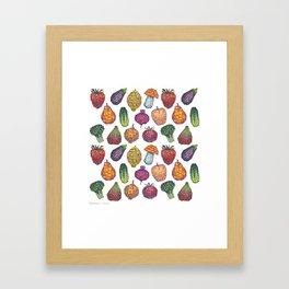 Vitamins - white Framed Art Print