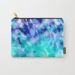 modern boho blue turquoise watercolor mermaid tie dye pattern Carry-All Pouch