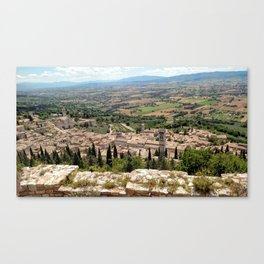 Assisi View Canvas Print