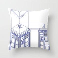 Tardis - Light Throw Pillow