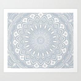 Cool Gray Mandala Simplistic Bold Minimal Minimalistic Art Print