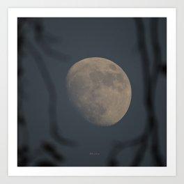 Moon at Three-Quarters Art Print