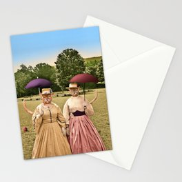 Two Pretty Kitties: Out for a Stroll Stationery Cards