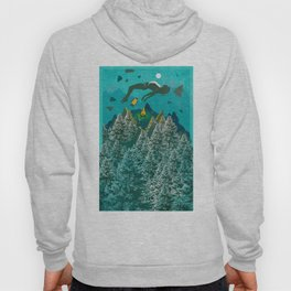 FLOATING FOREST BLUE Hoody