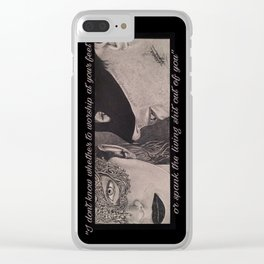 Christian & Ana Masks (Fifty Shades Darker) Clear iPhone Case