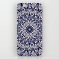 Purple gray mandala iPhone Skin