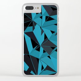 3D Futuristic GEO BG II Clear iPhone Case