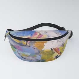 Girl and bicycle Fanny Pack