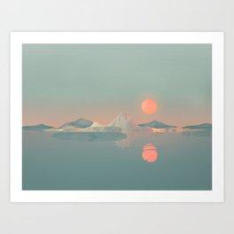 Geometric Landscape VH02 Art Print