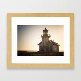 Dusk Lighthouse Framed Art Print