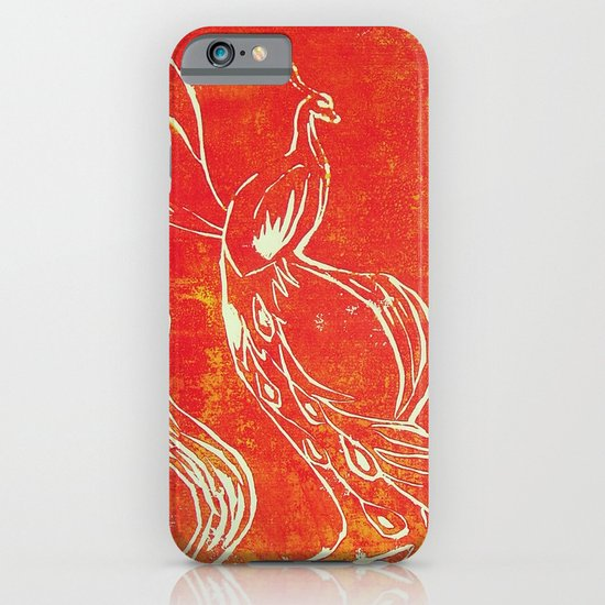 Peacock of Fire iPhone & iPod Case