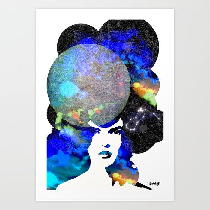 Aquarius (zodiac series 2) Art Print