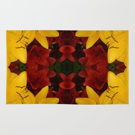 """""""A Gathering of Lilies"""" Remix - 2 (2-1) [D4466~24] Rug"""