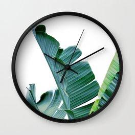 Banana Leaf #society6 #buy #decor Wall Clock