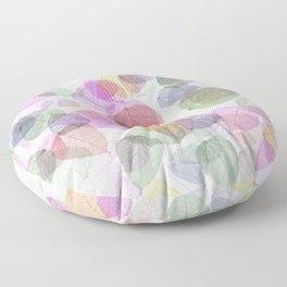 Rainbow Sugarcoat Leaves Floor Pillow
