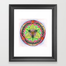 Sun/flower Mandala Framed Art Print