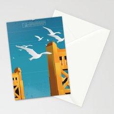 Sacramento Tower Bridge Travel Poster Stationery Cards