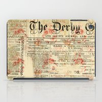 newspaper iPad Cases featuring Vintage newspaper grunge by MJ'designs - Marosée Créations