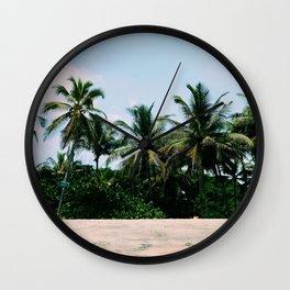 Palms in La Guajira, Colombian Caribbean Wall Clock