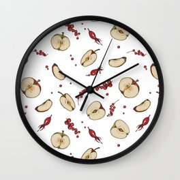 Apple and currant compote Wall Clock
