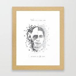 Thin line Framed Art Print