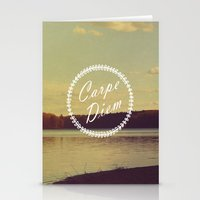 carpe diem Stationery Cards featuring Carpe Diem  by Rachel Burbee