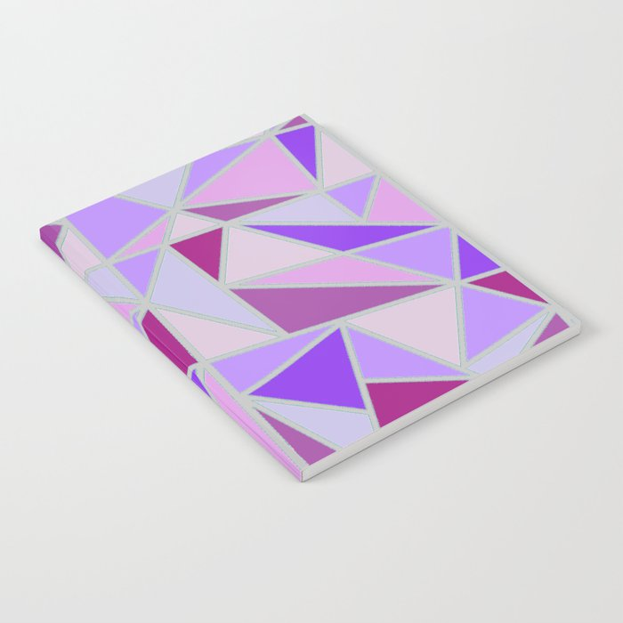 Purple Shards Geometric Pattern Notebook
