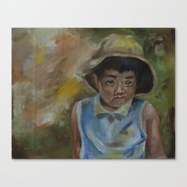 little shanghai boy Canvas Print