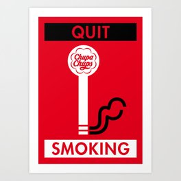 Illustrated new year wishes: #2 QUIT SMOKING Art Print