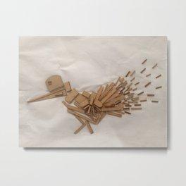 Wood Bird Metal Print