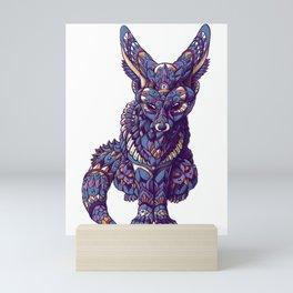 Fennec Fox (Color Version) Mini Art Print