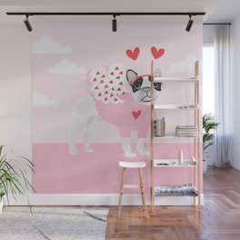 French Bulldog love valentines day gifts for dog lover pure bred frenchies forever Wall Mural