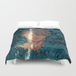 Surrounded by Flowers Duvet Cover