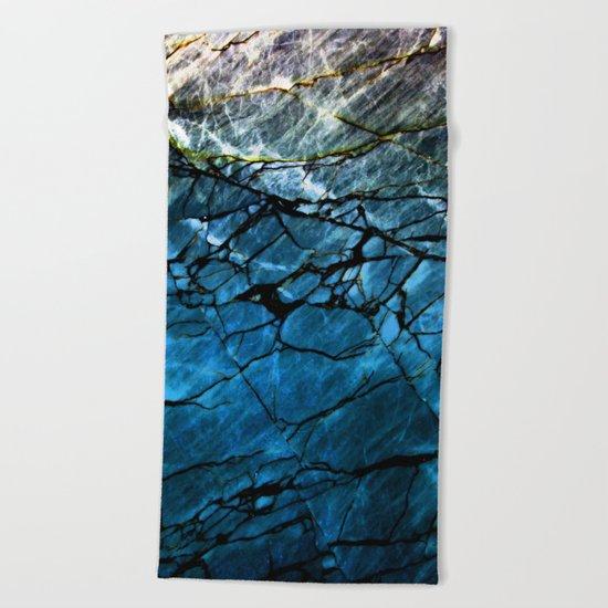 Blue Labradorite Crystal Beach Towel