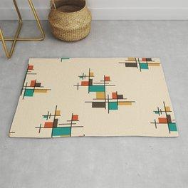 Mid Century Modern Geometric Colorful Rug