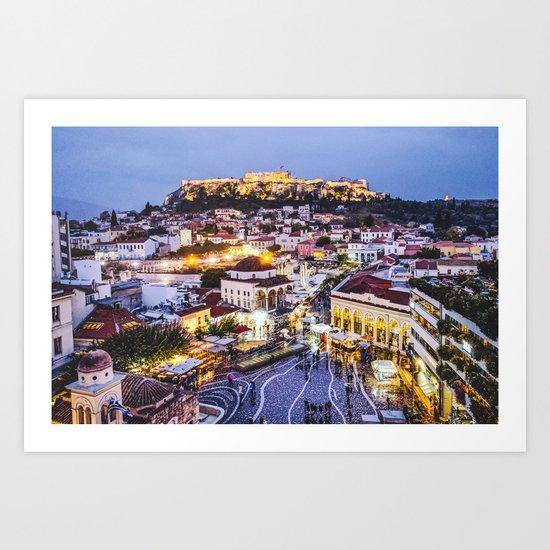 Athens Cityscape Fine Art Print by sidecarphoto