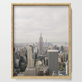 Empire State Building New York City, USA - Travel Photography fine art wall print Serving Tray