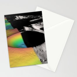 Rainbow Moon Craters Stationery Cards