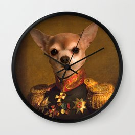 Chiwawa General portrait | Cute Kawaii Wall Clock