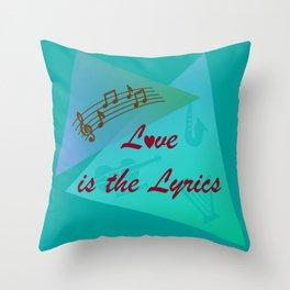 Love is the Lyrics Throw Pillow