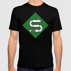 Slytherin House Crest Mens Fitted Tee MEDIUM Black