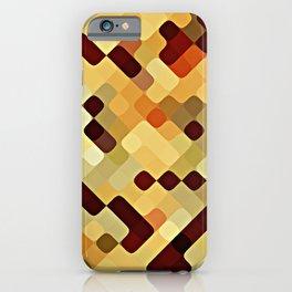 Cool Autumn Season Colors Round Squares Pattern iPhone Case