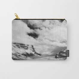 Mountains | Glaciers and clouds | Black and White | photography Carry-All Pouch