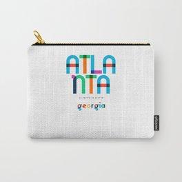 Atlanta Georgia Mid Century, Pop Art, Mondrian Carry-All Pouch