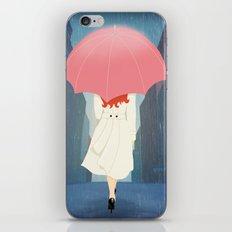 She Went Walking In The Rain iPhone & iPod Skin