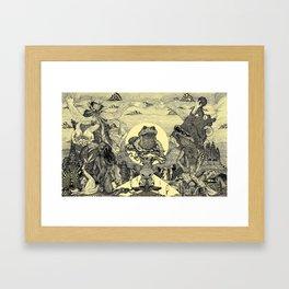 Toad Licking  Framed Art Print