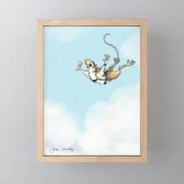 Sky diving Ace Framed Mini Art Print